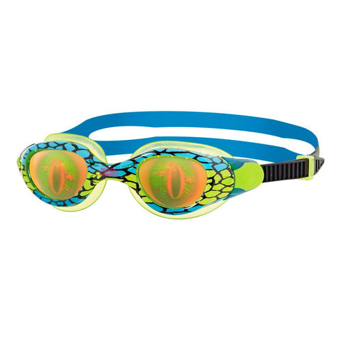 Zoggs Sea Demon Goggle Junior Boys Blue/Green - Clickswim.com