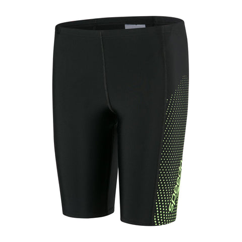 Speedo Boys Endurance 10 Gala Logo Panel Jammer Black / Bright Zest - Clickswim.com