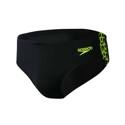 Speedo Boomstar Splice 7Cm Brief Mens Black/Fluo Yellow