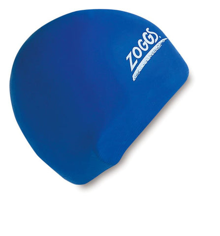 Zoggs Adult Latex Cap Blue - clickswim.com