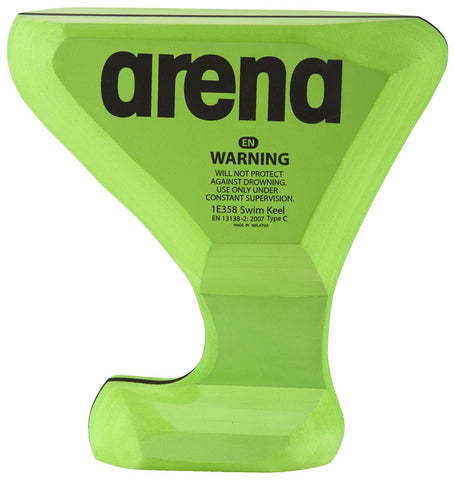 Arena Training Swim Keel Black/Acid Lime - Clickswim.com