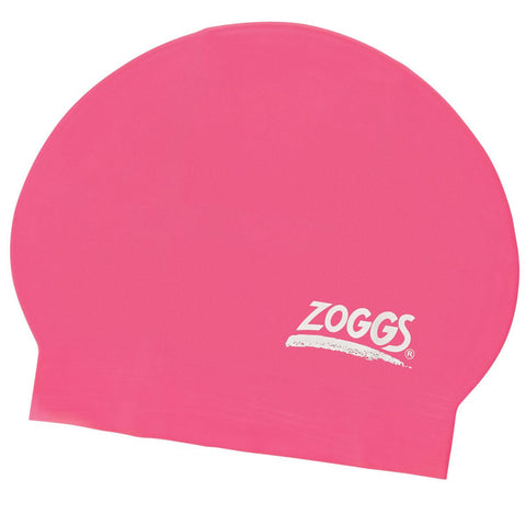 Zoggs Junior Latex Cap Pink - Clickswim.com
