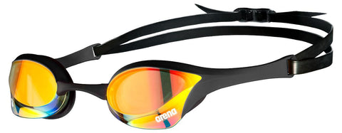 Arena Cobra Ultra Swipe Mirror Goggles Yellow/Copper/Black - Clickswim.com