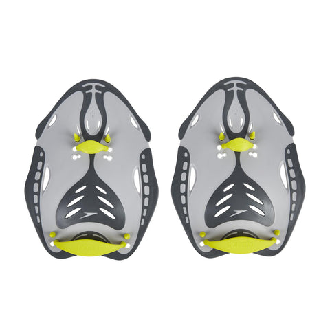 Speedo Adult Unisex Equipment Biofise Power Paddle Grey Yellow - Clickswim.com