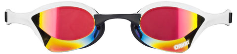 Arena Adult Racing Goggles Cobra Ultra Mirror Red Revo/White/Black - Clickswim.com