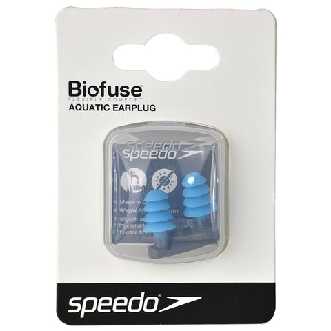Speedo Biofuse Aquatic Earplug Grey / Blue - Clickswim.com