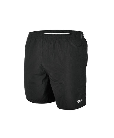 "Speedo Mens Solid Leisure 16"" Watershort Black - Clickswim.com"