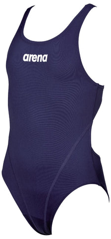 Arena True Sport Girls Solid Swim Tech Navy/White - Clickswim.com