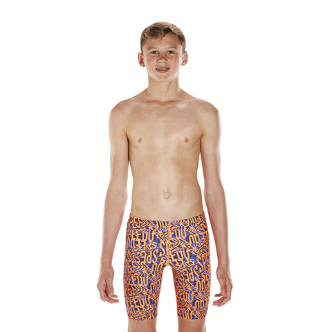 Speedo Junior Electric Spritz Allover Jammer Blue/Navy - Clickswim.com
