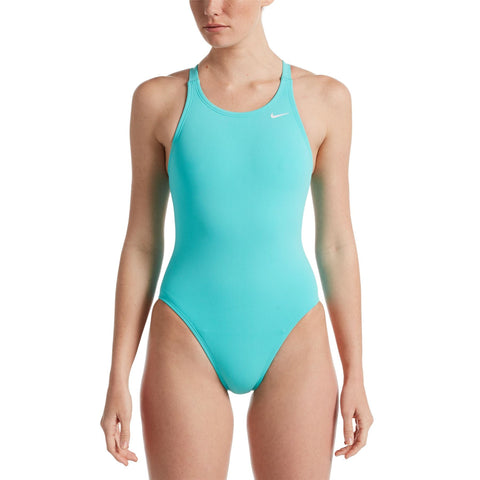 Nike Women's Hydrastrong Swimsuit Fastback One Piece Aurora Green - Clickswim.com