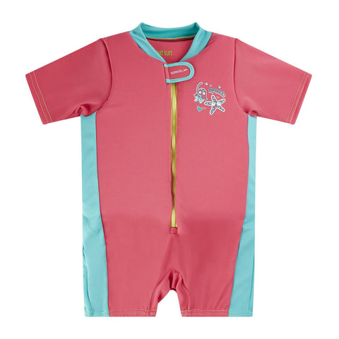 Speedo Infant Girls Sea Squad Float Suit Pink / Blue - Clickswim.com
