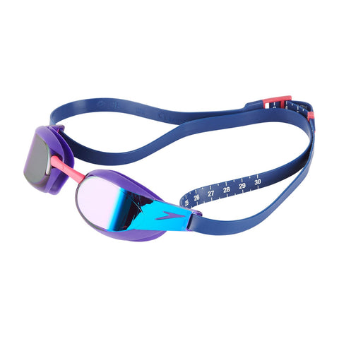 Speedo Adult Unisex Goggles Fastskin Elite Mirror Purple/Blue - Clickswim.com