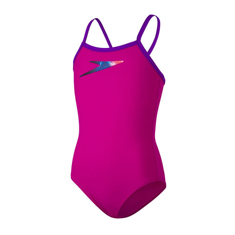 Speedo Boom Placement Thinstrap Muscleback Girls Diva / Violet
