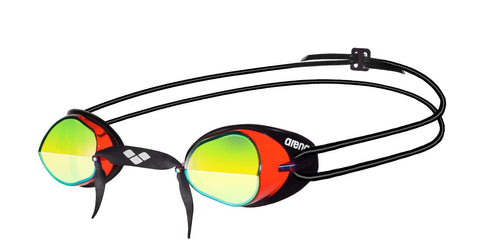 Arena Adult Racing Goggles Swedix Mirror Red/Yellow/Black - Clickswim.com