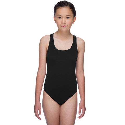 Maru Girls Solid Pacer Swimsuit Black - Clickswim.com