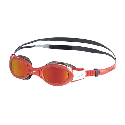 Speedo Junior Goggles Futura Biofuse Flexiseal Mirror Red - Clickswim.com