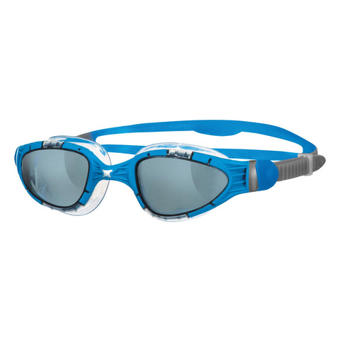 Aqua Flex Adult Goggles Blue/Clear/Smoke - Clickswim.com