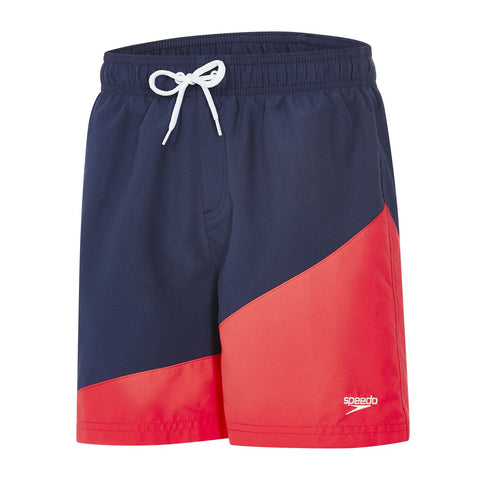 "Speedo Junior Boys Watershorts Colour Block 15"" Watershort Pink / Blue - Clickswim.com"