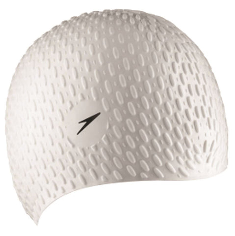 Speedo Womens Bubble Cap White - Clickswim.com