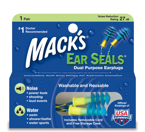 Macks Soft Flanged Earplugs EarSeals - Clickswim.com