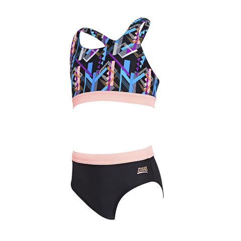 Shimmer Muscle 2 piece Ecolast Girls Swimsuit Multi/Black - Clickswim.com