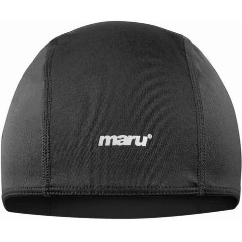 Maru Adult Fabric Cap Black - Clickswim.com