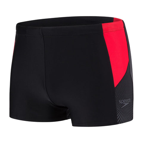 Speedo Dive Aqua Short Mens Black/Lava Red/Oxid Grey - Clickswim.com