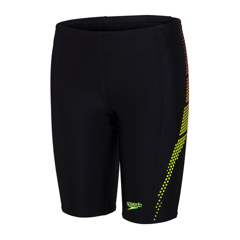 Speedo Plastisol Placement Jammer Boys Black/ Lava Red / Fluo Yellow