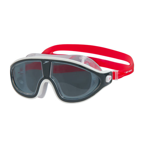 Speedo Adult Biofuse Rift Mask Red/Clear - Clickswim.com