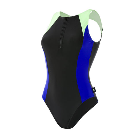 Speedo Womens Endurance 10 Hydrasuit Black / Chroma Blue / Bright Zest - Clickswim.com