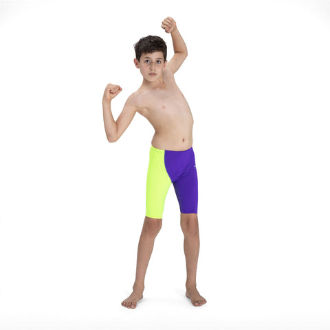 Speedo Fastskin Junior Endurance+ High Waisted Jammer Boys Violet/Yellow