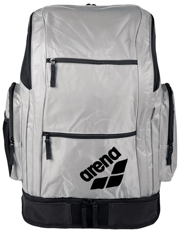 Arena Swim Bag Spiky 2 Large Backpack Silver Team 40L - Clickswim.com