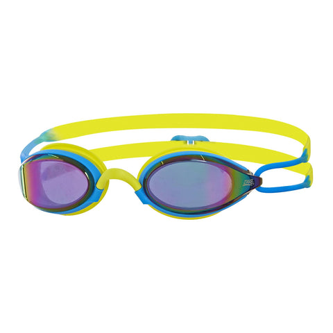 Podium Mirror Adult Goggles Blue/Lime/Mirror - Clickswim.com