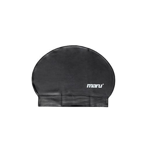 Maru Fast Flow Adult Latex Swim Hat Black - Clickswim.com