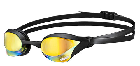 Arena Adult Racing Goggles Cobra Core Mirror Yellow Revo/Black - Clickswim.com
