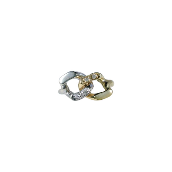 18kt Two-Tone Women Fashion Ring 4.1g-ring-lirysjewelry
