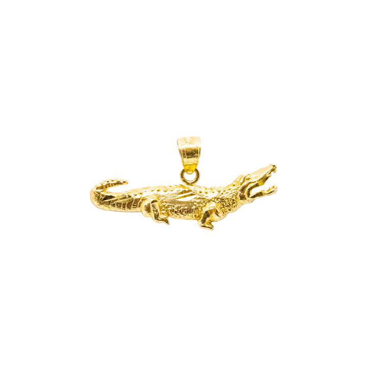 10kt Yellow Gold Alligator Pendant 1.6g-lirysjewelry
