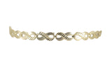10kt Yellow Gold Women Fancy Infinity Bracelet 6.5g-lirysjewelry