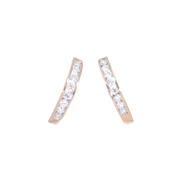 10kt Rose Gold Fancy Diamond Earrings-lirysjewelry