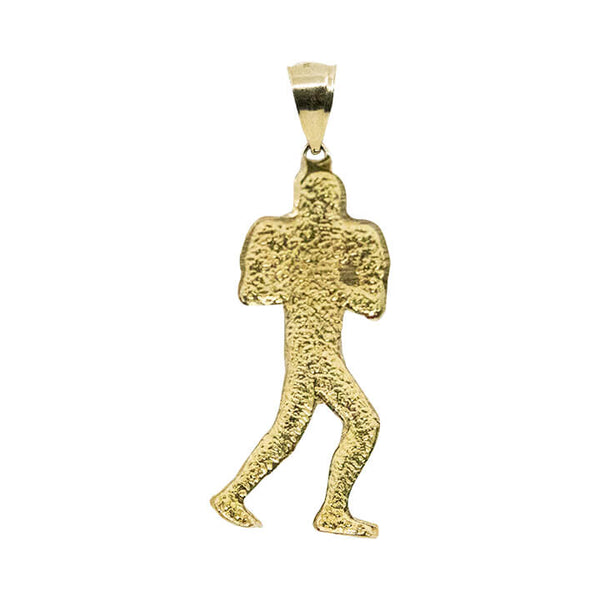 10K Yellow gold Football pendant 3.2g-pendant charm-lirysjewelry