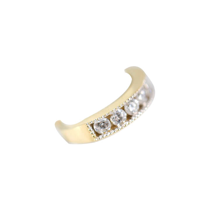 10kt Yellow Gold CZ Wedding Band 3.8g-lirysjewelry