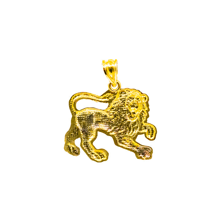 "10kt Yellow Gold ""Leo Zodiac Sign"" Pendant 2.20g-lirysjewelry"