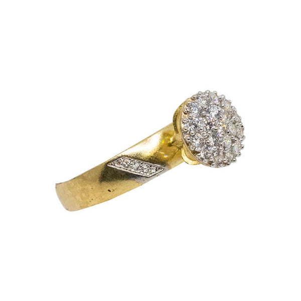 10K Yellow gold Womens fashion ring 2.8g-lirysjewelry