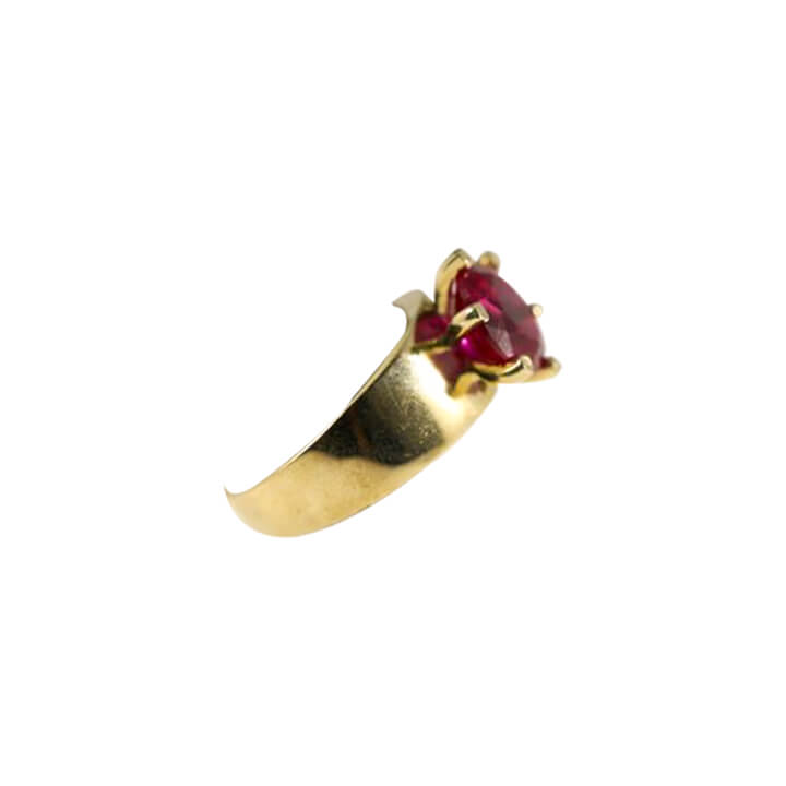 10kt Yellow Gold CZ Fancy Women Ring-ring-lirysjewelry