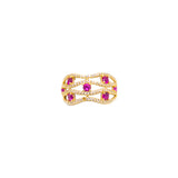 14K Yellow gold Womens cz fancy stone ring 2.6g-ring-lirysjewelry