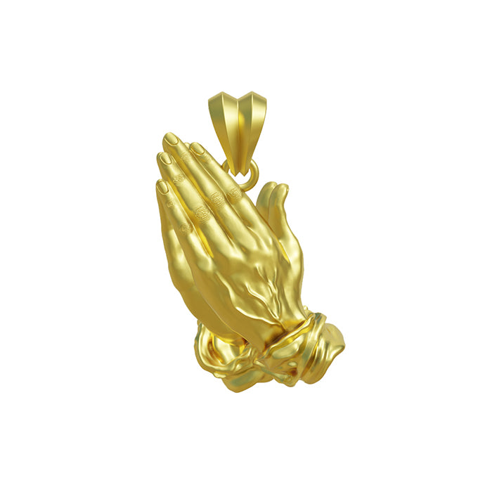 Hand Made Gold Blessed Hands Pendant-pendant charm-lirysjewelry