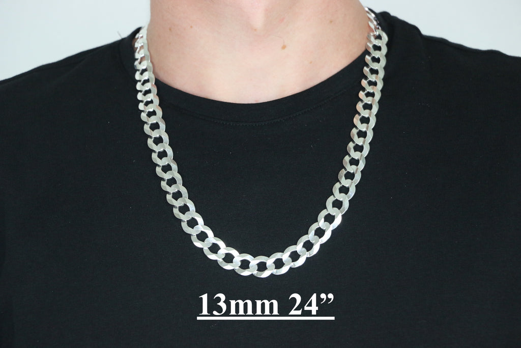 Details about  /Mothers Day 925 Sterling Silver Womens Cuban Curb Link Chain Necklace D543k
