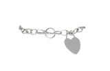 14kt White Gold Women Fancy Love Bracelet 8.5g-lirysjewelry