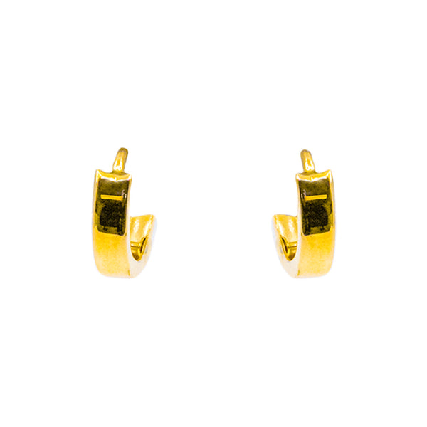 10kt Yellow Gold Women's Fashion Hollow Earring 0.6g-lirysjewelry