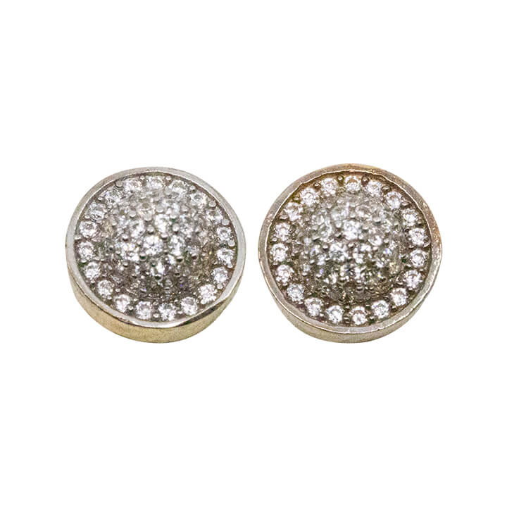 10kt Yellow Gold Round CZ Earings 2.1g-lirysjewelry